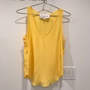 Rory Beca Yellow Silk Top, Small